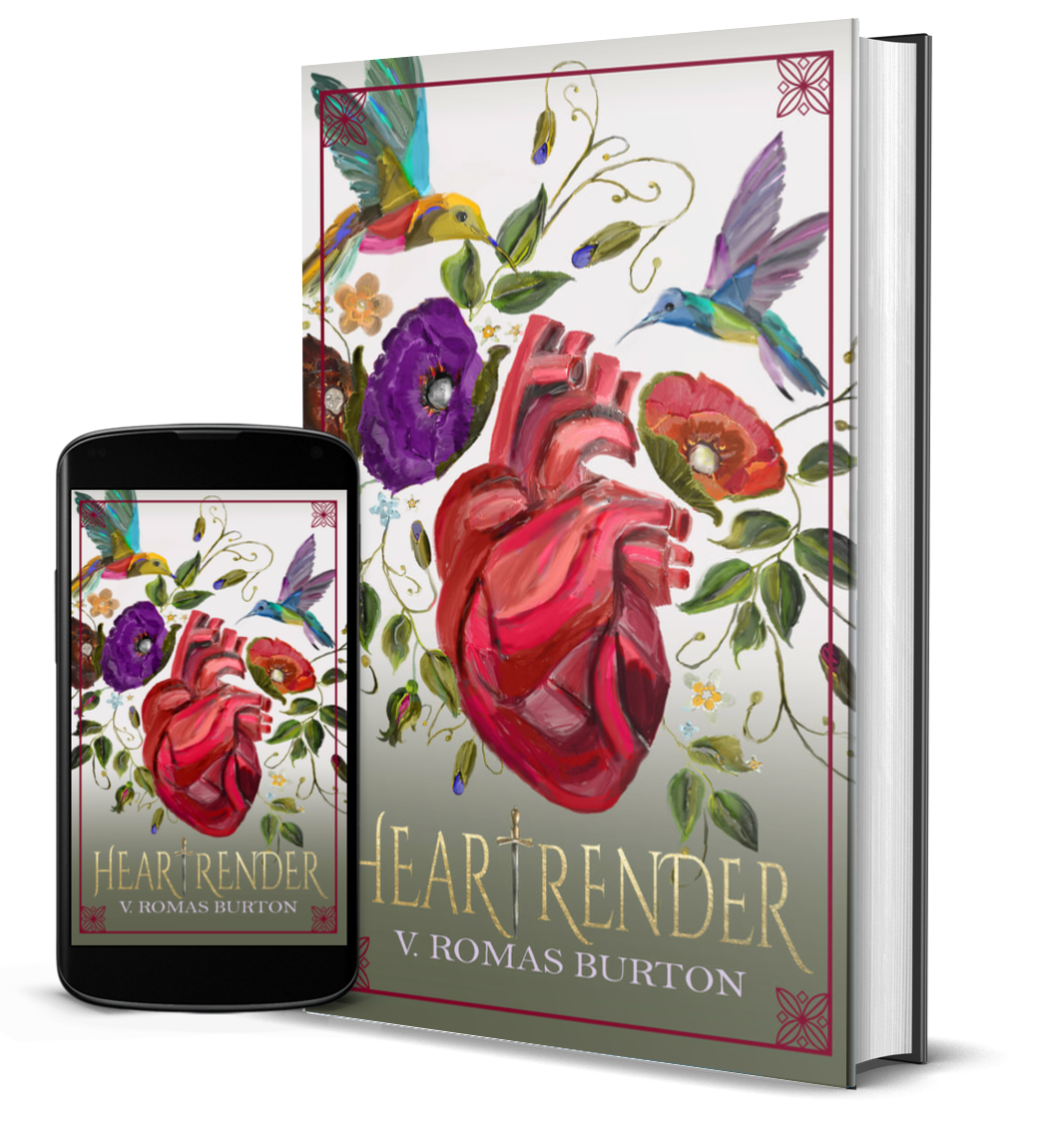 heartrender book cover and mobile screenshot